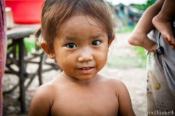 Sweet little girl in a slum outside of Phnom Penh. She is one of the most vulnerable to fall prey to Sex-Trafficking.